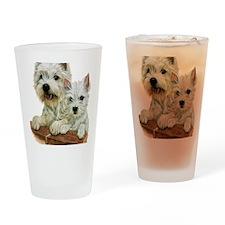 Westie  Pup Drinking Glass