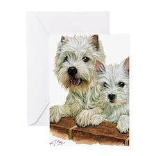 Westie  Pup Greeting Card