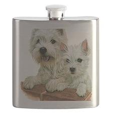 Westie  Pup Flask