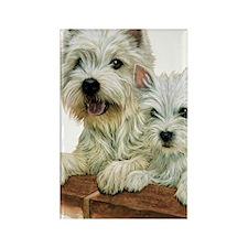 Westie  Pup Rectangle Magnet