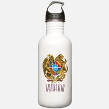 GA_ArmenianCoatofArms1 Water Bottle