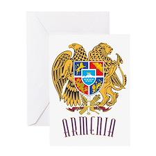 GA_ArmenianCoatofArms10x Greeting Card