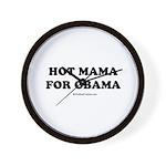Hot Mama for Obama Wall Clock