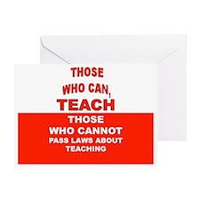 teachingbutton4 Greeting Card