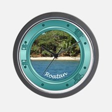 RoatanBeach-Porthole Wall Clock