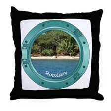 RoatanBeach-Porthole Throw Pillow