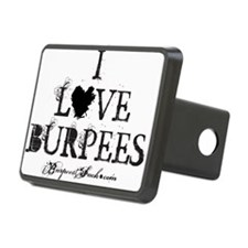 I LOVE BURPEES WHITE Hitch Cover