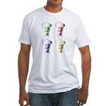 Crazy Jim Head Fitted T-shirt (Made in t