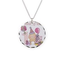 birthday baby4 Necklace Circle Charm