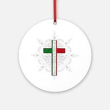 Italian Pride Round Ornament