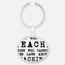 teachshirt Oval Keychain