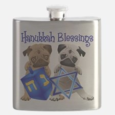 Hanukkah Blessings Flask