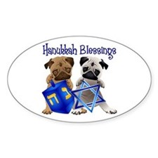 Hanukkah Blessings Decal