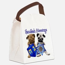 Hanukkah Blessings Canvas Lunch Bag
