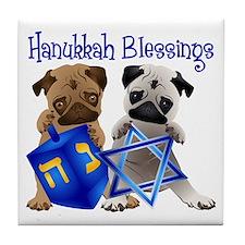 Hanukkah Blessings Tile Coaster