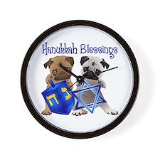 Hanukkah Blessings Wall Clock