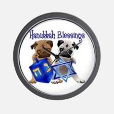 Hanukkah Blessings Wall Clock