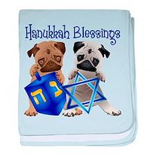 Hanukkah Blessings baby blanket