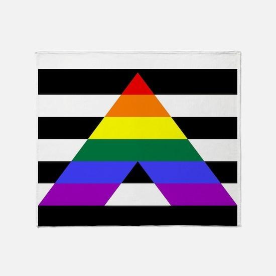 Straight Ally flag Throw Blanket