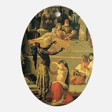 DanceBeeHarem_JOURNAL2 Oval Ornament