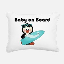 baby on board blue Rectangular Canvas Pillow