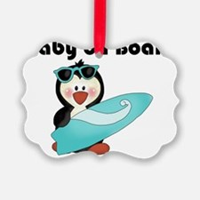baby on board blue Ornament