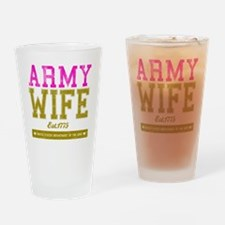 ARMYWIFE Drinking Glass