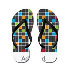 Word Game Addiction Flip Flops