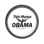 This mama is for Obama Wall Clock
