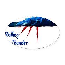B-52G 58-0165 Rolling Thunder Oval Car Magnet