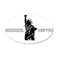 Griffiss - Statue of Liberty - Whi Oval Car Magnet