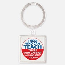 who can teach Circle small Square Keychain