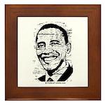 Barack Obama (distressed) Framed Tile