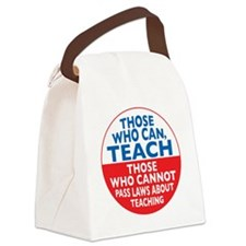who can teach Circle small Canvas Lunch Bag