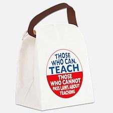 who can teach Circle small Canvas Lunch Bag