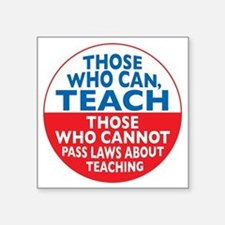 """who can teach Circle small Square Sticker 3"""" x 3"""""""