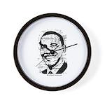 Barack Obama (distressed) Wall Clock