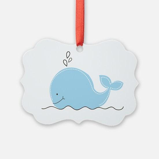 Little Blue Whale Ornament