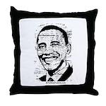 Barack Obama (distressed) Throw Pillow