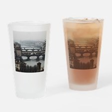 Bridges of Florence Italy Drinking Glass