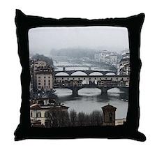Bridges of Florence Italy Throw Pillow