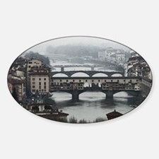 Bridges of Florence Italy Sticker (Oval)