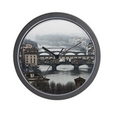 Bridges of Florence Italy Wall Clock