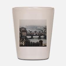 Bridges of Florence Italy Shot Glass