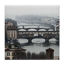 Bridges of Florence Italy Tile Coaster