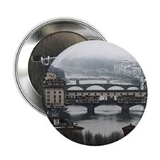 "Bridges of Florence Italy 2.25"" Button"