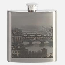 Bridges of Florence Italy Flask