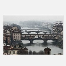 Bridges of Florence Italy Postcards (Package of 8)