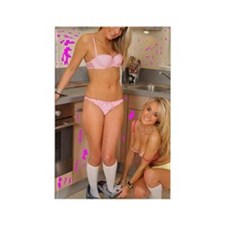 Twins in the Kitchen Cooking Rectangle Magnet