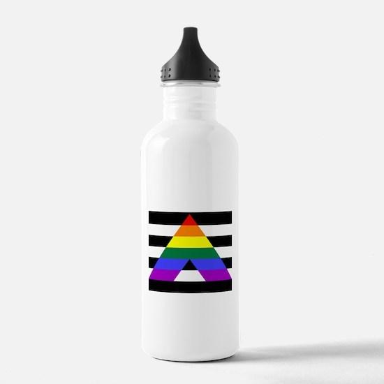 Straight Ally flag Water Bottle